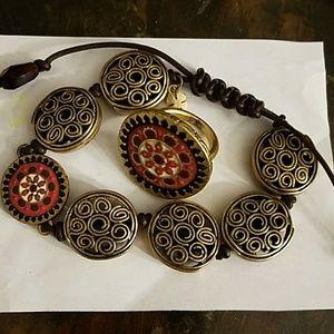 Lucky Brand ring & bracelet jewelry set